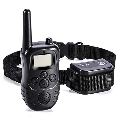 Modada Training Collar for Dogs, Rechargeable and Waterproof 300 Yards Remote Dog Bark Collar with Beep, Vibration and Electric Shock Collar