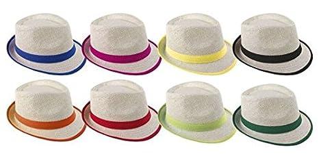 P  Tit Clown 14627 Cappello Paglia Adesivo – Borsalino con Nastro – Colore  Casuale 31c677235eb3