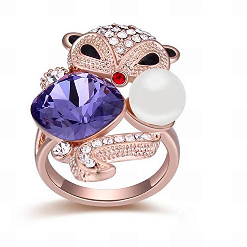 HOX Swarovski Elements Crystal Rings Beautiful Fox High-End Jewelry Alloy Swarovski Elements Crystal Alloy Gold Plated, ()