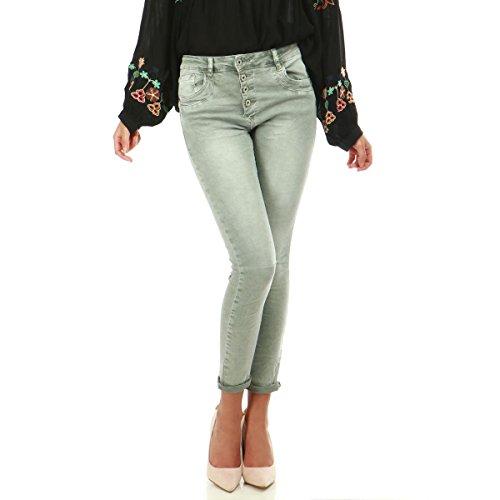 Slim Jeans Clair et Vert Vert froiss Modeuse La gris dlav HEnw5xRPq