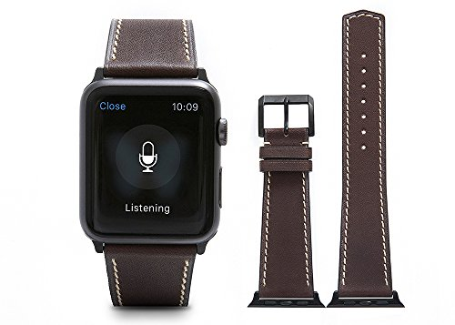 Apple-Watch-BandSuede-Calf-leather-Brown-fit-42mm-Watch-Strap-with-Polished-Pin-buckle