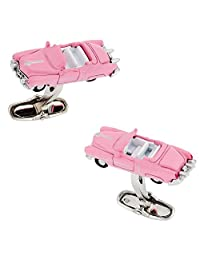 Cuff-Daddy Classic Car Cufflinks 1950s in Pink
