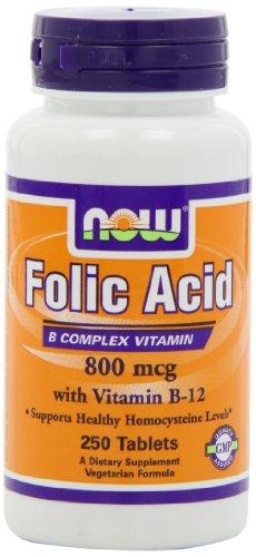 NOW Folic Acid 800mcg Tablets product image