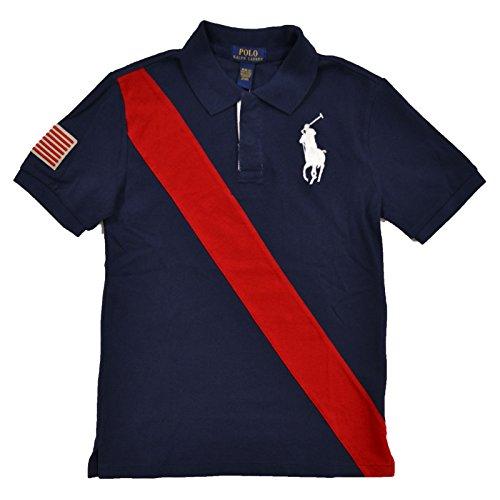 Polo Ralph Lauren Boys Big Pony USA Flag Polo (L, French - Usa Ralph Lauren Polo