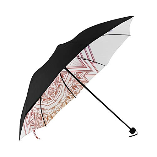 Umbrella Triangle Composition Sacred Geometry Eye Vision Underside Printing Compact Travel Sun Umbrella Parasol Anti Uv Foldable Umbrellas With 95% Uv Protection For Women Men Lady Girl