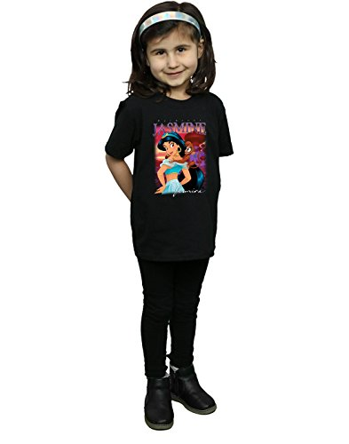camiseta Girl negra Aladdin Jasmine Disney Princess Montage A1nf67qWU