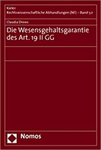 Book Die Wesensgehaltsgarantie des Art. 19 II GG