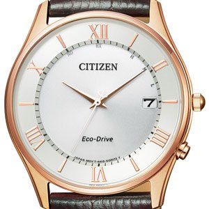 Collection Simple Adjust CITIZEN Watch Eco Drive Solar Radio Wrist Watch Thin AS1062-08A Men's