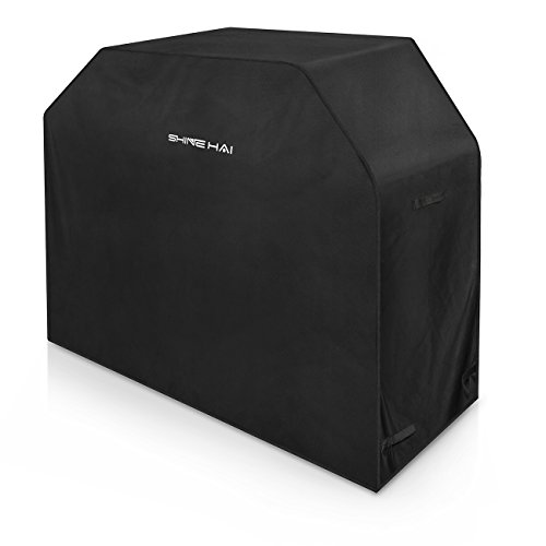SHINE HAI BBQ Grill Cover, 58-Inch Waterproof 600D Heavy Duty Gas Grill Cover for Weber Brinkmann, Char Broil, Holland and Jenn Air, Black