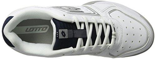 Lotto Sport Herren T-Tour IX 600 Tennisschuhe, Weiß (Wht/Slv MT), 43 EU