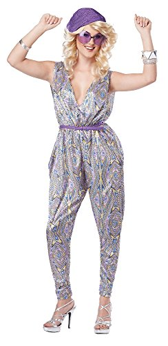 California Costumes Women's Boogie Fever 70's Disco Dance Costume, Purple, -