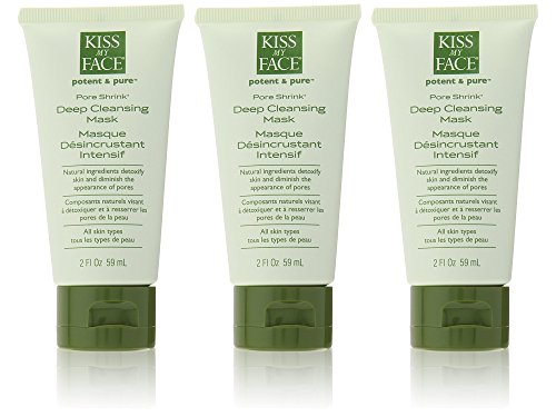 Kiss My Face Organics Pore Shrink, Deep Cleansing Face Mask, 2 Ounce Tubes(Pack of 3)