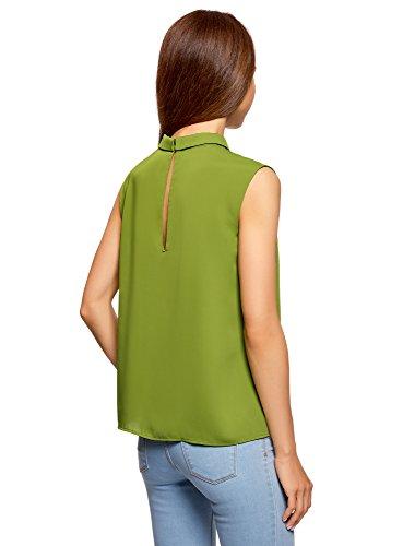 Col sans Basique Ultra Vert Blouse Femme Manches oodji 6b00n w6pPTfqOx