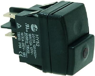 Rancilio Black Bipolar Switch 16a 250v