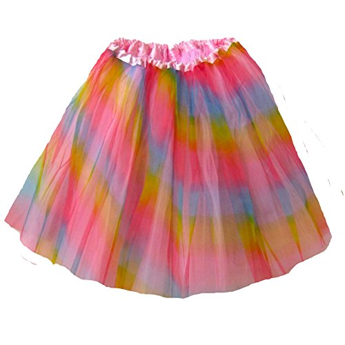 Rainbow Brite Costumes Kids (Adult Ballet Tutu Waist 18-36 Length 16-17 by Southern Wrag Company (Pastel Rainbow))