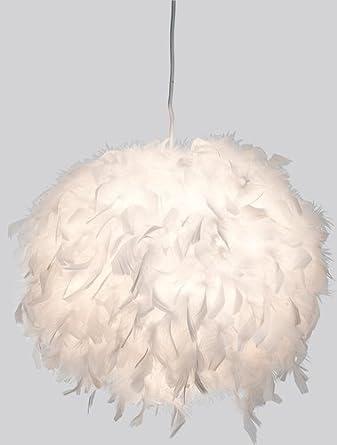 Lámpara colgante LED Ducky con plumas Diámetro 40 cm, Techo ...