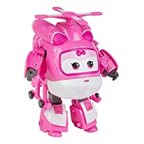 Super Wings - Dizzy, personaje transformable, 10.5 cm, color rosa y blanco