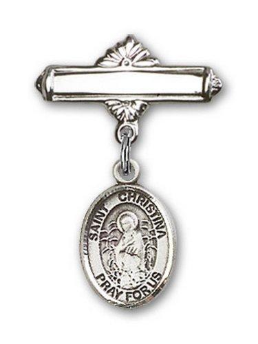 Icecarats Créatrice De Bijoux En Argent Sterling St. Christina La Broche De Badge Charme Étonnante 1 X 5/8