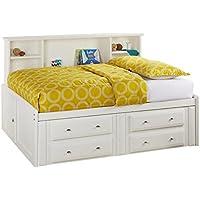 Catalina White Full Roomsaver Bed