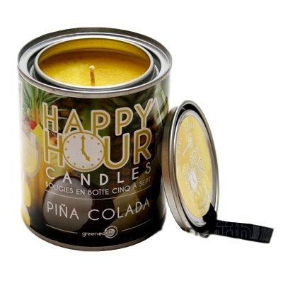 GE Happy Hour Tin Candle - Pina Colada by Green Earth