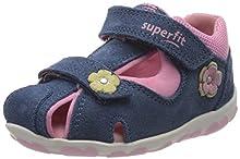 superfit Fanni, Sandalias para Bebés, Azul (Blau/Rosa 80), 23 EU