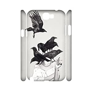 3D Samsung Galaxy Note 2 Cases Neither Poor Nor Innocent, Dustin, {White}