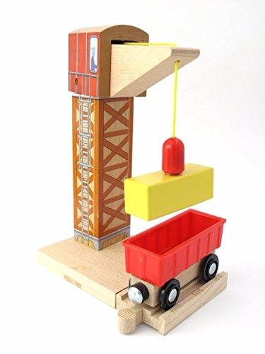 Zhenyu木製トラックアクセサリートーマスクレーンタワーおもちゃ磁気車モデルトラックConstructionゲームと互換性木製トラック