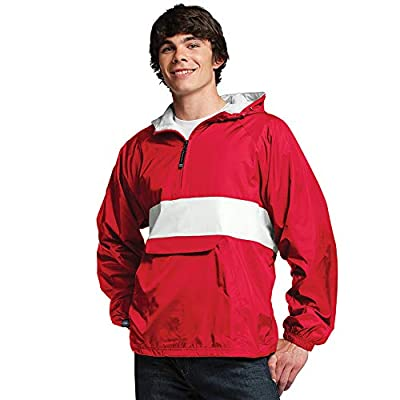 Charles River Apparel Unisex-Adult's Wind & Water-Resistant Pullover Rain Jacket (Reg/Ext Sizes): Clothing