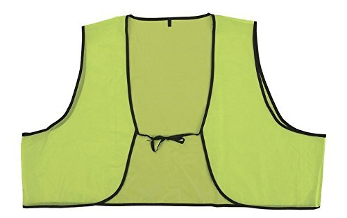 Safety Depot Low Cost Disposable High Visibility Safety Vest One Size Fits Most Multiple Colors Orange and Lime (Pack of 120, Lime) by Safety Depot (Image #1)