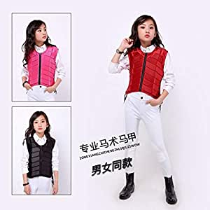 Body Protectors - For Kids baby youth Safety Equestrian Horse Riding Vest Protective Body Protector Shock Absorption Jacket Sportswear Racing A (pink s)