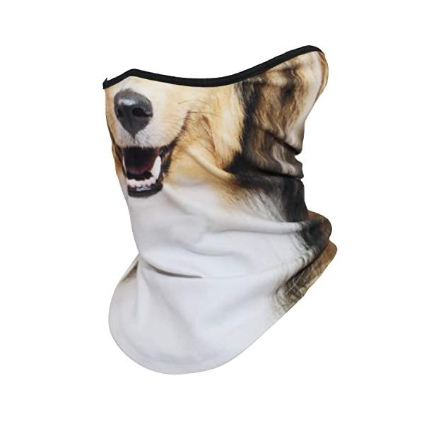 AXBXCX 3D Animal Neck Gaiter Warmer Windproof Face Mask Scarf for Ski Halloween Costume 2
