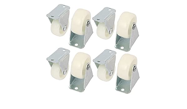eDealMax 1.2 pulgadas Dia Placa Superior de Nylon Para No giratoria de la rueda Blanca 8PCS: Amazon.com: Industrial & Scientific