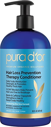PURA D'OR Hair Thinning Therapy Conditioner - Strengthening, Clarifying & Moisturizing Cleanser - For Fuller...