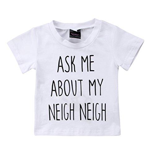 Cow Moo Little (Toddler Kids Boys Girls T-Shirt Classic Letter Printing Short Sleeve Blouse Basic Tee (White, 2-3 Years))