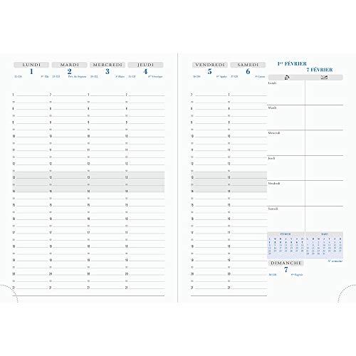 Exacompta - 1 agenda semanal de escritorio con vista semanal ...