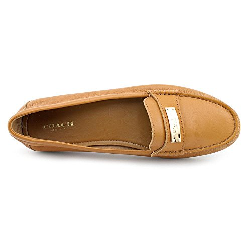 Coach Leather Women's Pebbled Fredrica Ginger Loafer 4afr4