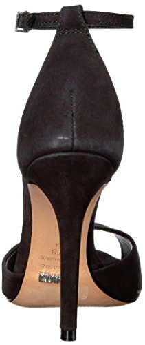Schutz Women's Sandal Lee Heeled Black Gold Spechio Saasha HRrPqxdH