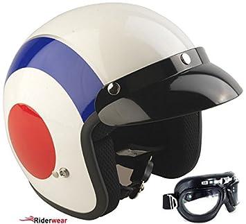 Cara abierta Rs-04 Viper Target casco de la motocicleta, motoneta casco + Gafas