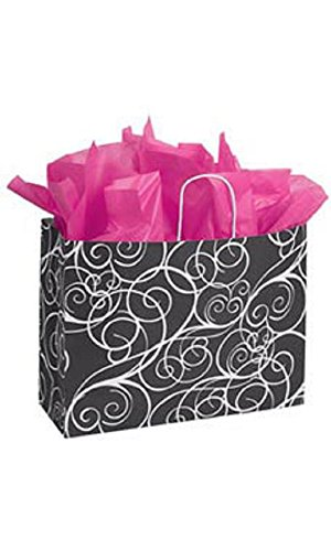 Large Elegant Swirl Paper Shopping Bags - Case of 100 by STORE001