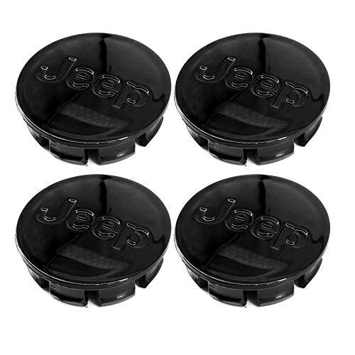 "Guzetop 4PCS Center Wheel Caps 2.25"" 56mm Emblem for Jeep (Glossy Black)"