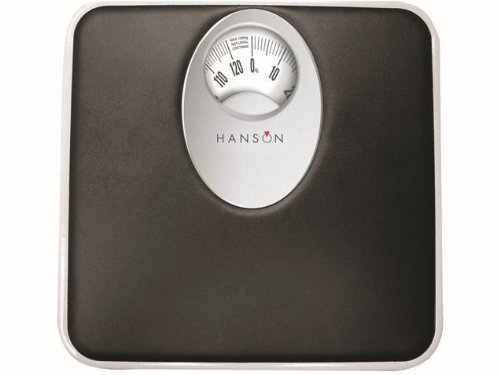 Hanson H61 Blk Mechanical Bathroom Scale with Magnified Display Black 11476