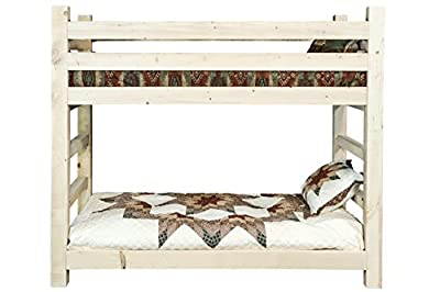 Montana Woodworks Homestead Collection Bunk Bed, Twin, Clear Lacquer