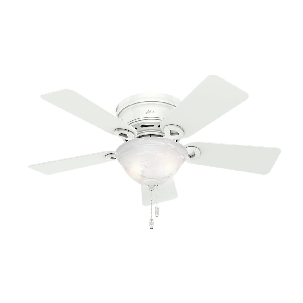 Hunter 51022 Conroy 42-Inch Snow White Ceiling Fan with Five Snow White Blades and a Light Kit Hunter Fan Company