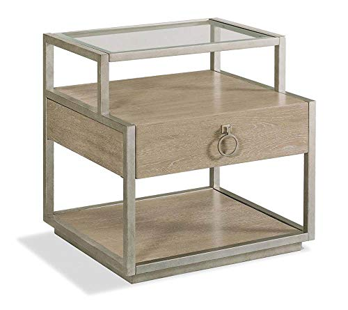(Riverside Furniture Rectangle End Table in Natural Finish)