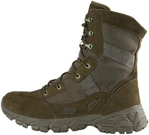 滑り止めの軍事戦術ブーツのための耐久性、耐摩耗快適マンMicrosuedeラバーソール軽量レースアップスタイルに屋外アサルトブーツ (色 : 褐色, サイズ : 26.5 CM)