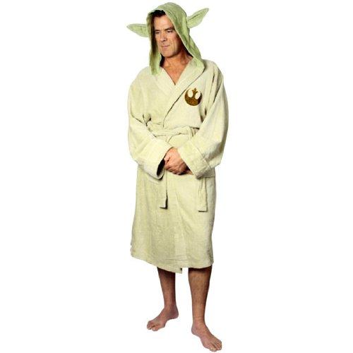 Star Wars - Mens Star Wars - Yoda Cotton Bathrobe Tan
