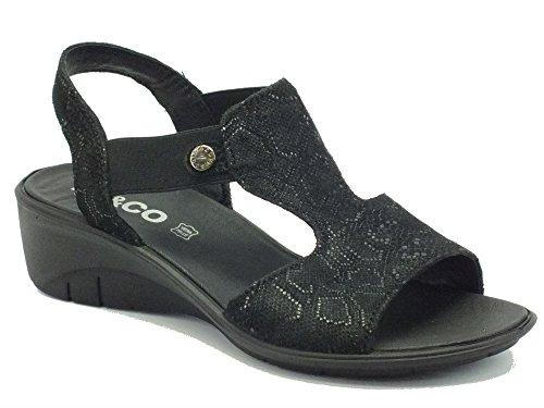 Igi&Co 78184 Sca. St. Leon Met/Nero - Sandalias de vestir de Piel para mujer Met/Nero