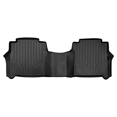 MAXLINER Floor Mats 2nd Row Liner Black for 2017-2018 Titan / 2016-2018 Titan XD Crew Cab with 1st Row Bucket Seats and 2nd Row Underseat Tool Box (Titan Toolbox)
