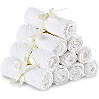 Utopia Towels 10 Pack Organic Bamboo Baby Washcloths - Premium Quality Ultra Soft Face Towels (10 x 10 Inches Reusable Wipes) - Perfect Bamboo Washcloths for Sensitive Skin of All Ages