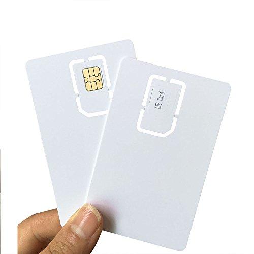 Writable Programmable Blank SIM USIM Card 4G LTE WCDMA GSM Nano Micro SIM Card 2FF 3FF 4FF for Telecom Operator by XCRFID (5pcs)